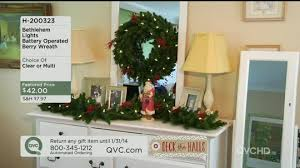 bethlehem lights battery op 24 berry wreath page 1 qvc