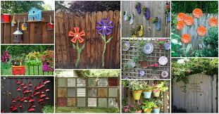 14 diy ideas fun backyard fence decorations you will love
