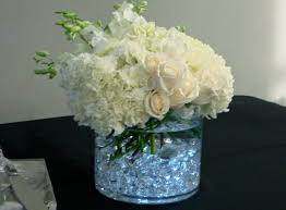 flower arrangements with lights seasonal whites led lights gems centerpiece flowers of the
