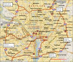 washington dc region map washington dc map