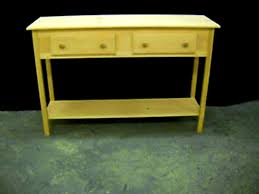 Oak Sofa Table With Drawers Bedroom Prepossessing Unfinished Narrow Tapered Leg Wall Foyer