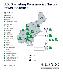 Map Of Nuclear Power Plants In The Usa by Nrc Nrc Maps Of Nrc Regions