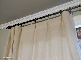 reposhture studio no sew fringed curtains and cheap curtain rods
