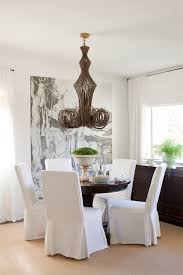 parsons chairs slipcovers parson chairs in dining room eclectic with dining chair slipcovers
