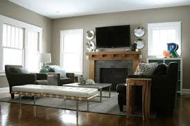 tiny living room with fireplace and black furniture design trends
