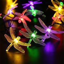 extérieure solaire led guirlande lumineuse 5 m 20 led libellule