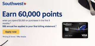 Chase Visa Business Credit Card Southwest Business Credit Card Increased To 60 000 Point Offer