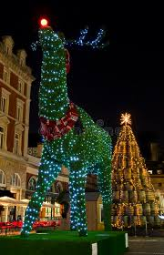 topiary reindeer in covent garden at christmas royalty free stock