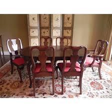 Henkel Harris Queen AnneStyle Dining Set Chairish - Henkel harris dining room table
