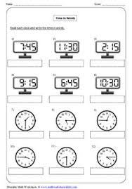 all kinds of time worksheets matching analog and digital clock