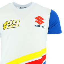 logo suzuki andrea iannone 29 suzuki team moto gp logo white t shirt official