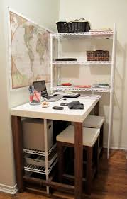 Small Desk Organization by Home Office
