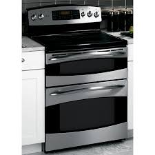Ge Electric Cooktops Shop Ge Profile 30 Inch Freestanding Double Oven Electric Range