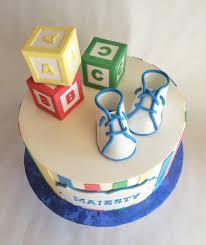 baby shower cake buttercream custom toppers baby blocks