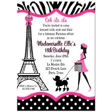eiffel tower invitations invitation eiffel tower girl walking poodle by that party