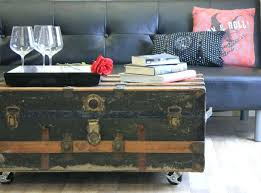 coffee tables that turn into tables antique trunk coffee table an old turned into a makes stylish decor