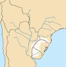 parana river map uruguay river