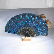 peacock fan fashion peacock silk folding held fan fan