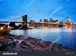 brooklyn bridge manhattan skyline new york stock photo 55695886