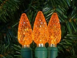 Amber Christmas Lights C6 Led Lights 100 Amber Orange Led Christmas Lights Christmas