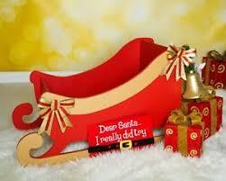 Santa s Sleigh wooden MDF Decoration Freestanding XMAS Christmas