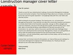 stunning construction manager cover letter ideas simple resume