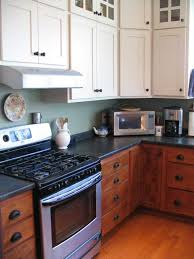 painting wood stained kitchen cabinets two tone kitchen kitchen cabinets color combination