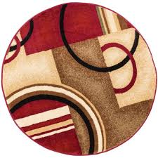 Orange And Brown Area Rugs Well Woven Barclay Arcs And Shapes Red 5 Ft 3 In Modern