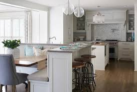 built in kitchen island kitchen island with built in l shaped dining banquette