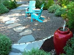 Patio Rock Ideas Exteriors Magnificent Gravel Garden Ideas Rock Patio Cost River