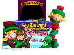 amazon com pop in kins elf fun with christopher bookset mini