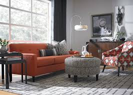 orange accent chairs bright and fresh orange living room