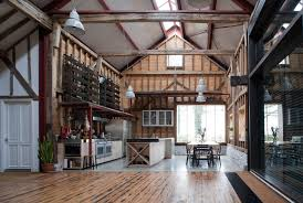 ancient party barn blends historic preservation with energy smart