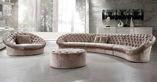 leon fabric sectional sofa chair and round ottoman fabric