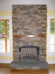 impressive ideas stacked stone fireplace cost winning ledge stone
