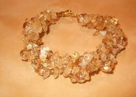amber stone bracelet images Woven handcrafted citrine and amber stone chip bracelet with jpg