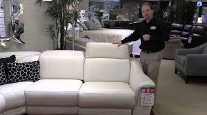 htl sectional leather sofa loveseat adjustable headrest recliner