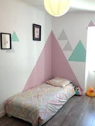 chambre fille 6 ans peinture chambre fille chambre denfant dacco mur peinture triangle