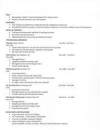 Sample Resume Of Cook by Chefs Resume Resume Cv Cover Letter
