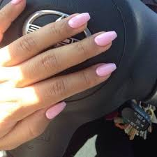 Light Pink Acrylic Nails Image Result For Light Pink Coffin Nails Nail Pinterest