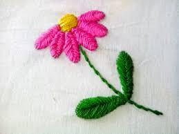 Fish Bone Stitch Embroidery Tutorials Embroidery Raised Fish Bone Stitch Floral Embroidery
