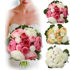 wedding home decoration 13heads artificial silk jasmine flowers bride bouquet wedding home