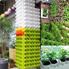 2 pocket vertical wall planter self watering hanging flower pot