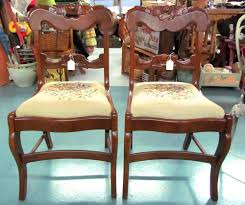 davis cabinet co lillian russell cherry wood heart carved chairs