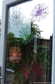 Halloween House Decorations Uk by How To Make Glitter Glue Spider Web Halloween Decorations