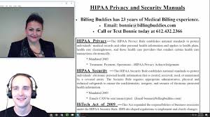 hipaa privacy and security manuals youtube