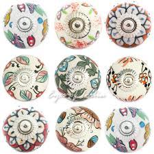 Shabby Chic Ceramic Door Knobs Handmade in India