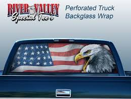 Bald Eagle And American Flag American Flag With Eagle Truck Window Wrap U2013 The Odyssey Shoppe
