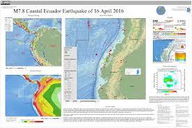 Earthquake World Map by M 7 8 27km Sse Of Muisne Ecuador