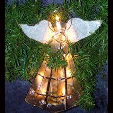amazon com pre lit capiz angel tree topper with trumpet clear